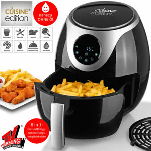 Cuisine-Edition-8in1-Digital-Heissluft-Fritteuse-Display-Timer-3-L-Friteuse-1300W