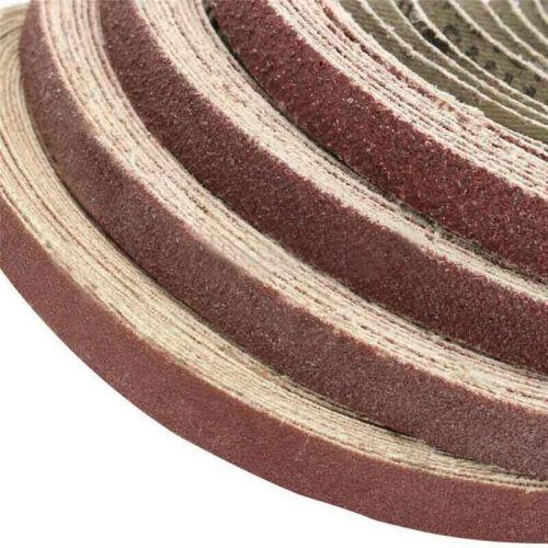 30pc Sanding Belt Sander Alumina 40-600 Grit Power File Polishing Tool 10*330mm