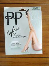 Pretty Polly Nylons 10 Denier Gloss Back Seam Tights