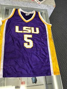 sports shoes c825a 0278f Details about New LSU Tigers Screen Printed Basketball Youth Jersey Small #5