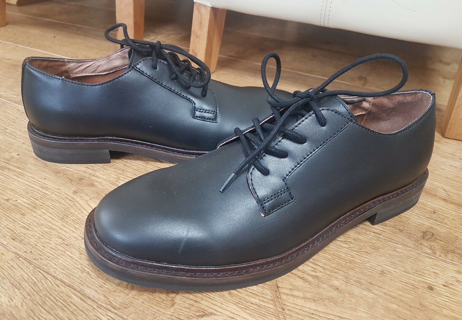 NEW French Connection CAMERON LEATHER FORMAL schuhe UK Größe 7   eur 41