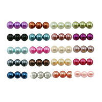 450*6mm Glass Faux Pearl Loose Round Beads Jewelry Making Craft 19 Colors DIY