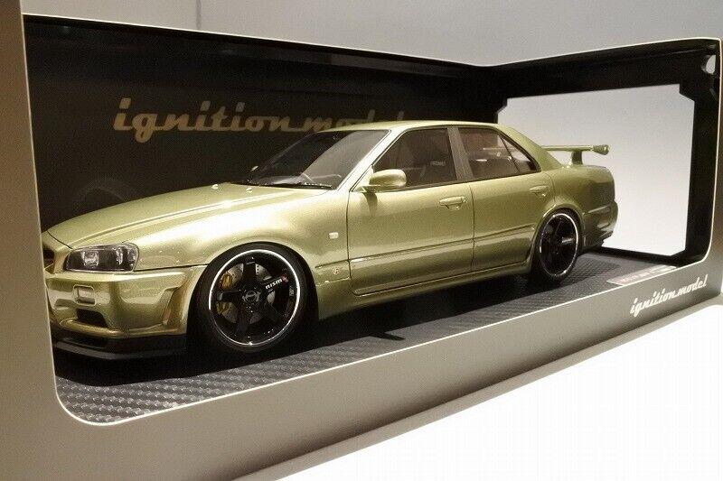 1 18 IG ignition  IG1582 Nissan Skyline 25GT Turbo (ER34) Millennium Jade 4 Door