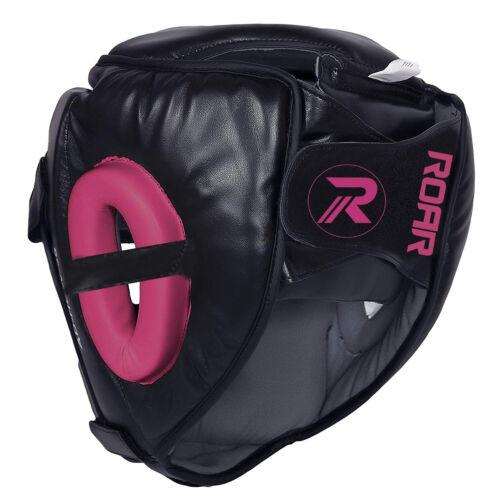 ROAR Detachable Bar Head Guard Helmet Premium Synthetic Leather MMA Boxing UFC