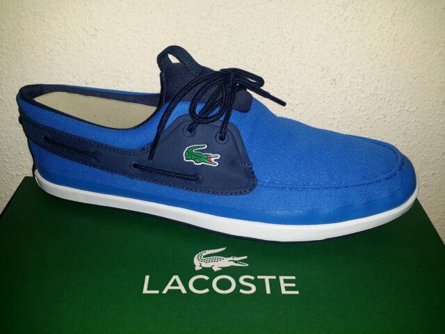 f1be69d9ff6f Mens 12 M Lacoste Landsailing Boat Shoes 316 3 Blue for sale online ...
