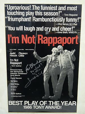 """Theater Entertainment Memorabilia Rare Framed 1986 Judd Hirsch Signed Autograph Poster """"i'm Not Rappaport"""""""