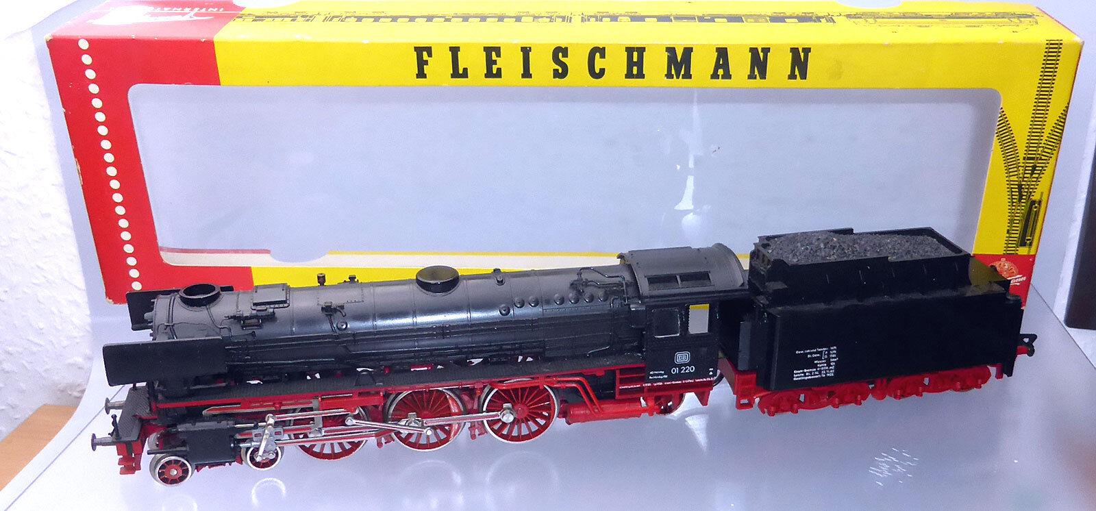 Fleischuomon 1362; schlepptennderlok 01 220 DB, in scatola originalef977