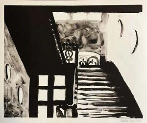 Henrik hold, Ohne Titel, inchiostro di china-LITOGRAFIA, 2002, a mano firmata e datata