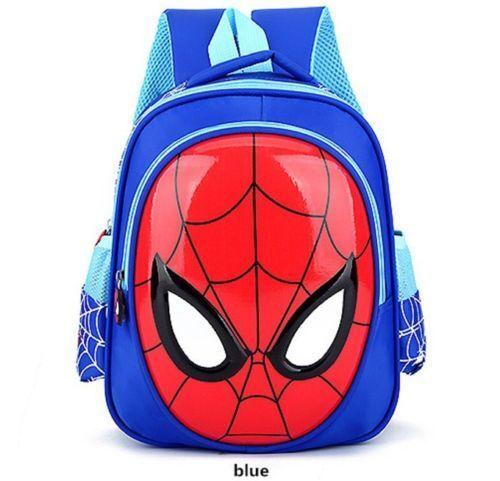 """HOT School Bags For Boys Waterproof Backpacks Child Spiderman Book bag Kids 12/"""""""