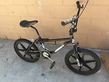 1987 GT Performer Black And Blue Freestyle BMX Old School Bike