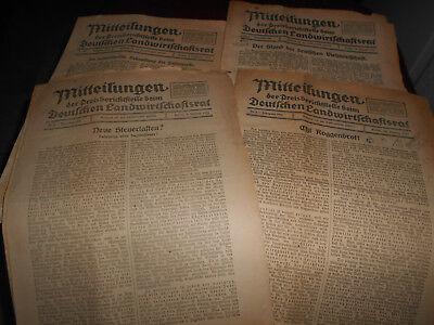 Mitteilungen Des Deutschen Landwirtschaftsrat Zeitung 1925 1926 Sonstige 5x Orig
