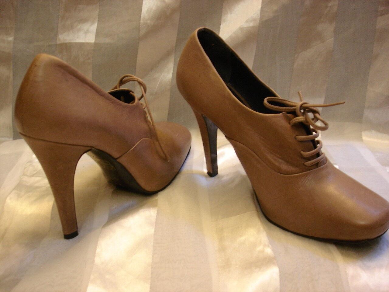 UN DIMANCHE A VENISE par Shoes KALLISTE Leather High Heel Shoes par Booties Sz 38 EUR 0e408f