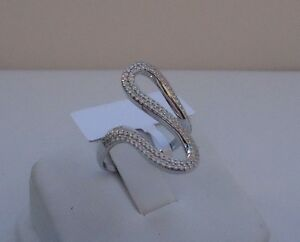 925-STERLING-SILVER-LADIES-DESIGNERS-RING-W-2-CT-DIAMONDS-SIZE-6-7-8-9