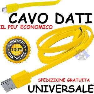 CAVETTO DATI Cavo MICRO USB Caricabatteria CARICA per SAMSUNG Cellulare TELEFONO