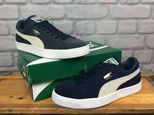 PUMA-LADIES-SUEDE-CLASSIC-V-NAVY-TRAINERS-VARIOUS-SIZES-CASUAL