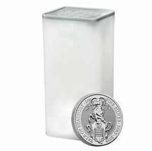 Roll-of-10-2019-Britain-2-oz-Silver-Queen-039-s-Beasts-Yale-Beaufort-GEM-BU-SKU57314