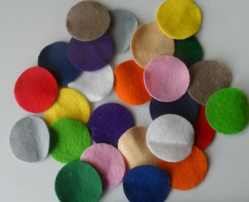 3cm Multi coloured felt circles QTY: 100 BULK pack FREE POST