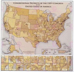 Map-Political-Mason-2006-Us-Congressional-Districts-Replica-Canvas-Art-Print