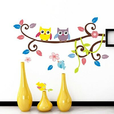 83*64cm Owl Branch DIY Art Wall Decal Decor Room Stickers Vinyl Home Mural Paper