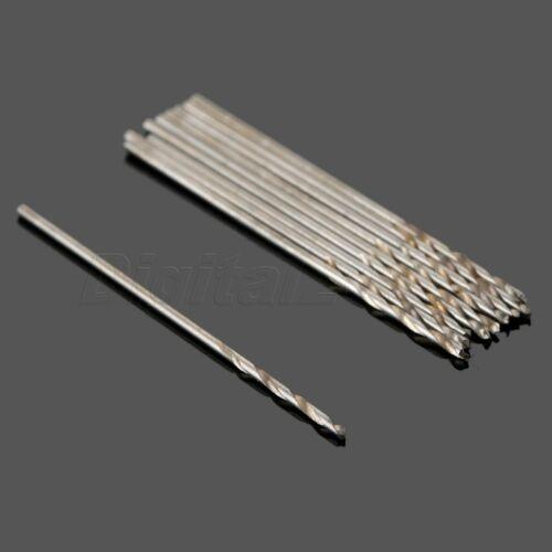 50Pcs Micro Drill HSS Bits 0.5mm-1.0mm Straight Shank PCB Twist Drill Bits Set