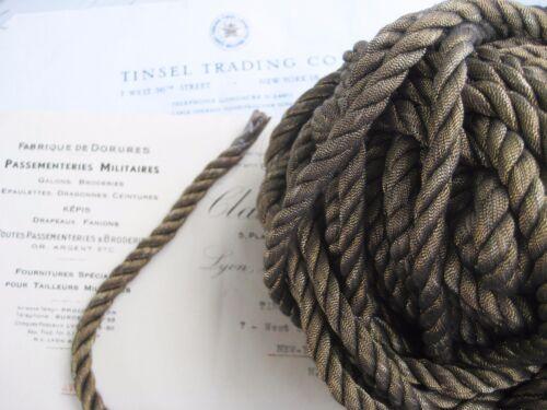 "1 yd Vintage Antique French Dark Gold Metallic Rope Cord Trim 5//16/""  Pillow"