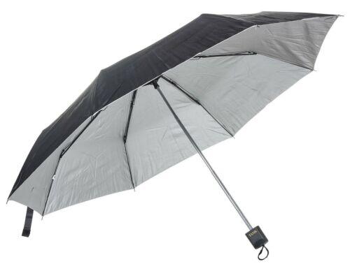 Travel Rain /& Sun Protection Umbrella Waterproof Outer /& Silver Sun Block Inner