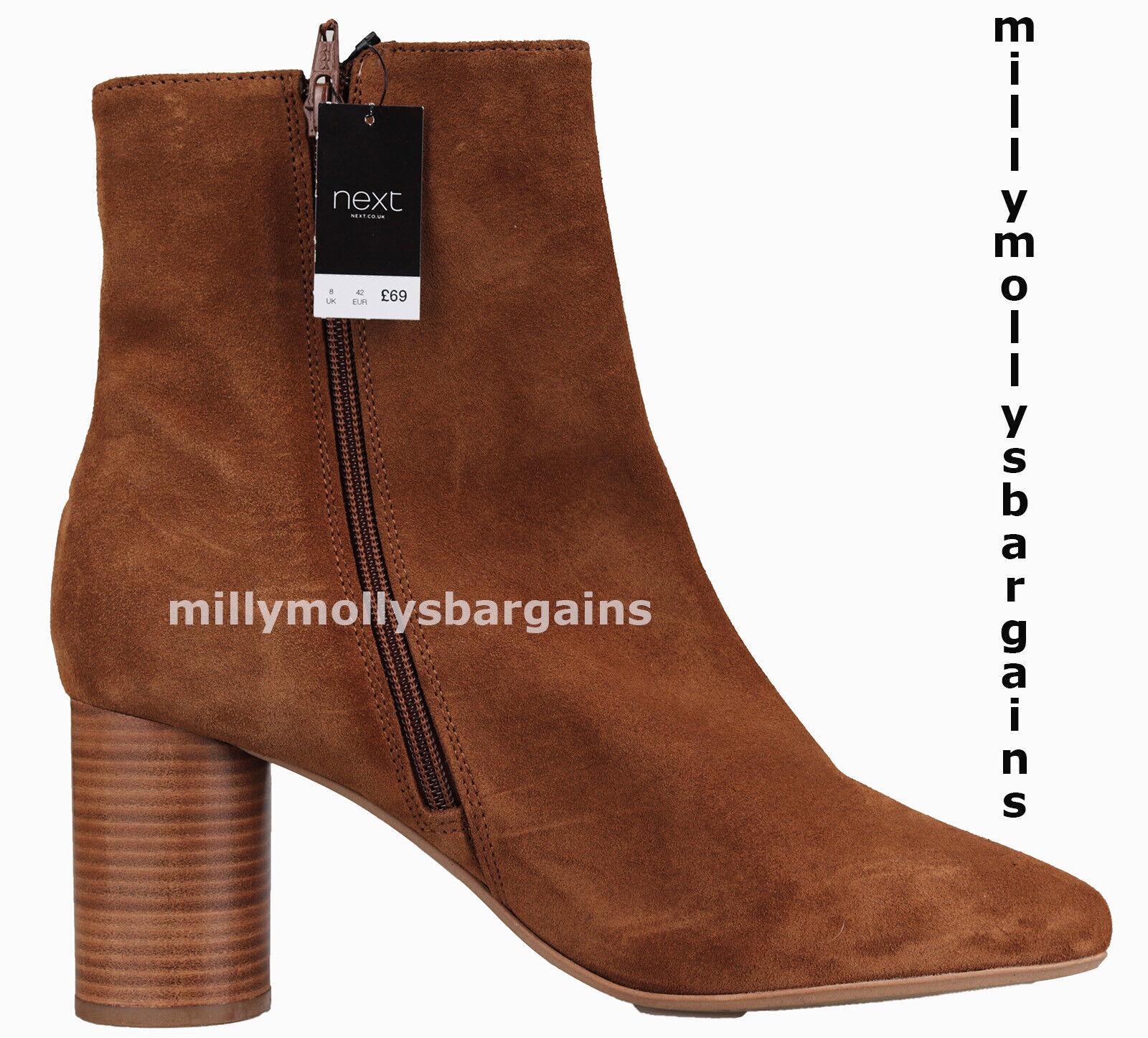 New damen braun Leather NEXT Stiefel Größe 8