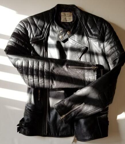 Hide cuero Nyc Steer chaqueta Schott de motocicleta de Star Perfecto One Vintage Usa 46 76qwSw
