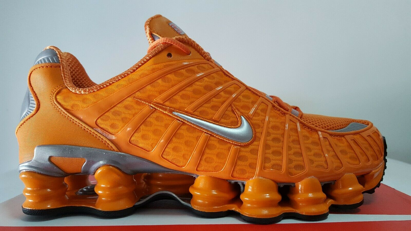 NIKE SHOX TL TOTAL Jugar naranja plata N.45.5 THE RETURN OF SHOX NEW ENTRY 97