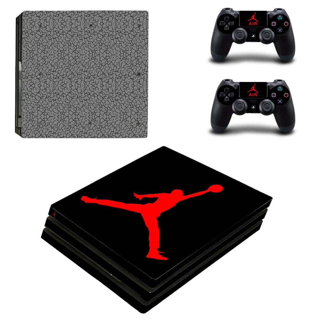 PS4 Pro - Jordan, Flight - Vinyl Skin + 2 Controller Skins [0051]