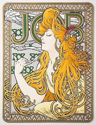 1890s Art Nouveau Job Rolling Paper Alphonse Mucha tobacco paper Advertising tin