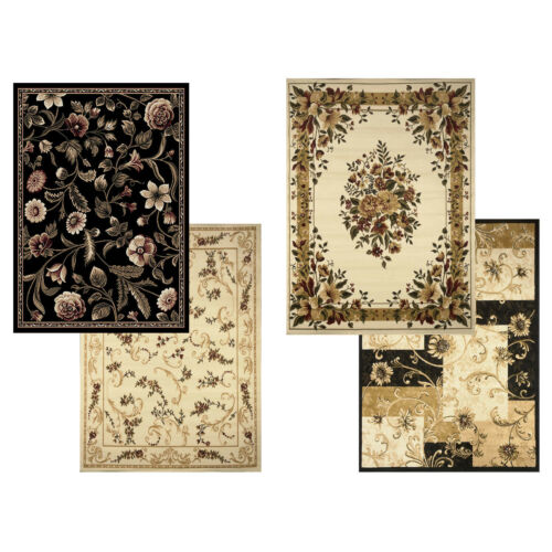 """Actual 7/'8/""""x10/'4/"""" Transitional Floral Area Rug 8x11 Casual Vines Scrolls Carpet"""