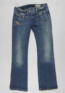 604c00cc Women's Diesel HUSH DS Boot Cut Mid Wash Denim Jeans Sz 26 W 30 L ...