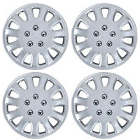 4 Pc Set 14 Silver Hubcaps Wheel Cover Replacement Wheel Skin Cover on sale