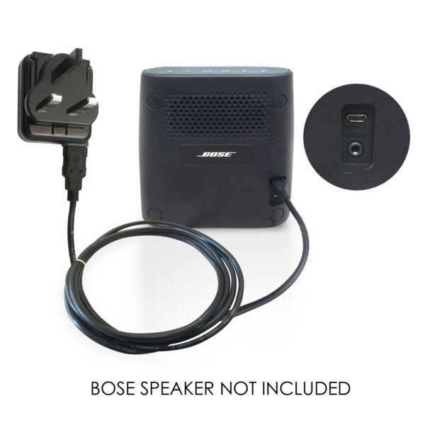 Agressif Power Chargeur De Batterie Câble Et Connecteur Pour Bose Soundlink Colour, Mini Ii Haut Parleur Blanc Pur Et Translucide