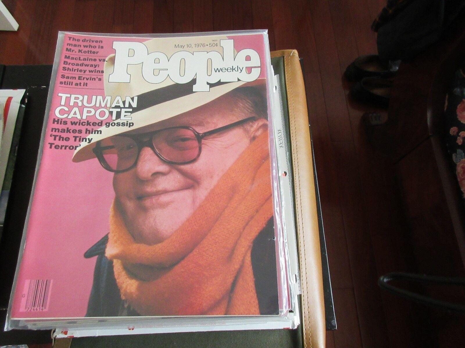 Truman Capote , PEOPLE MAGAZINE , 5/10/76 , Mr. Kotter