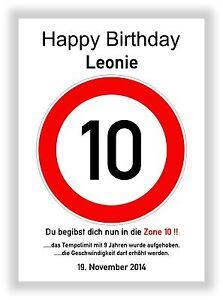 Verkehrszeichen bild 10 geburtstag deko geschenk Dekoration 80 geburtstag