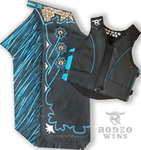 Combo Vest and  Chaps Bull Riding  unique shape