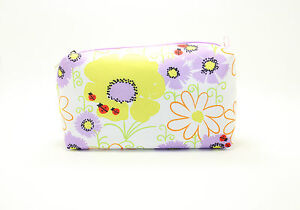 Clinique-Lady-Bug-Yellow-Purple-White-Floral-Cosmetic-Makeup-bag