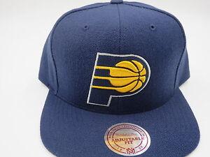 ec4bef6bd1b2d Indiana Pacers Blue Throwback Mitchell   Ness NBA Custom Snapback ...