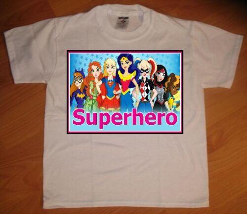 Superhero Girls Pink Custom Personalize Birthday Party Favor Gift T-Shirt
