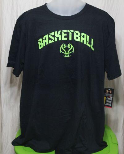 UNDER ARMOUR UA BASKETBALL SHIRT BLACK//HYPER GREEN 1238834 001