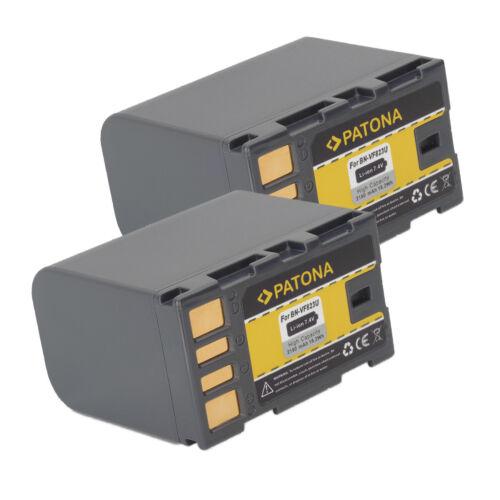 2x Batteria Patona per Jvc GS-TD1BUS,GS-TD1EU,GY-HM100,GY-HM100E,GY-HM100U
