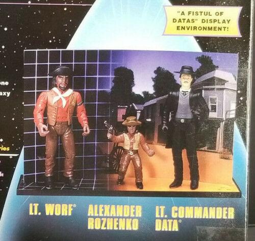 Poing plein de données 3-Pack Star Trek The Next Generation Playmates Next Gen holodeck Worf Alexand