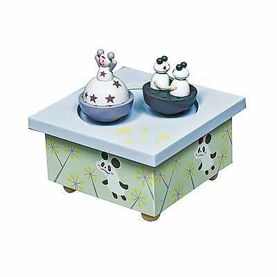 Toys (0 - 12 Months) Baby Temperate Trousselier T95012 Music Box Dancing Girls And Panda New For Fast Shipping