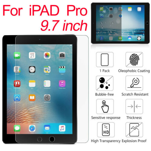 100/% Real Tempered Glass Screen Protector for Apple iPad 2 3 4 Air Mini Pro QL