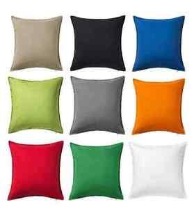 ikea gurli cushion covers 50x50 cm all beautifull colours decorat your homes ebay. Black Bedroom Furniture Sets. Home Design Ideas