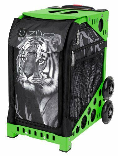 Zuca Tiger Sport Insert  Bag & Green Frame with Flashing Wheels  hot limited edition