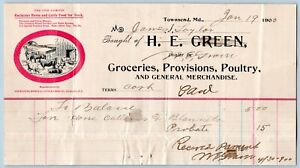 1900-TOWNSEND-MARYLAND-DELAWARE-H-E-GREEN-GROCERIES-PROVISIONS-POULTRY