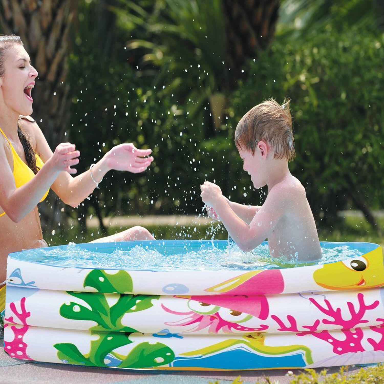 62  Kids remando piscina inflable Océano Mar Vida mundo natación 3 anillos de la familia